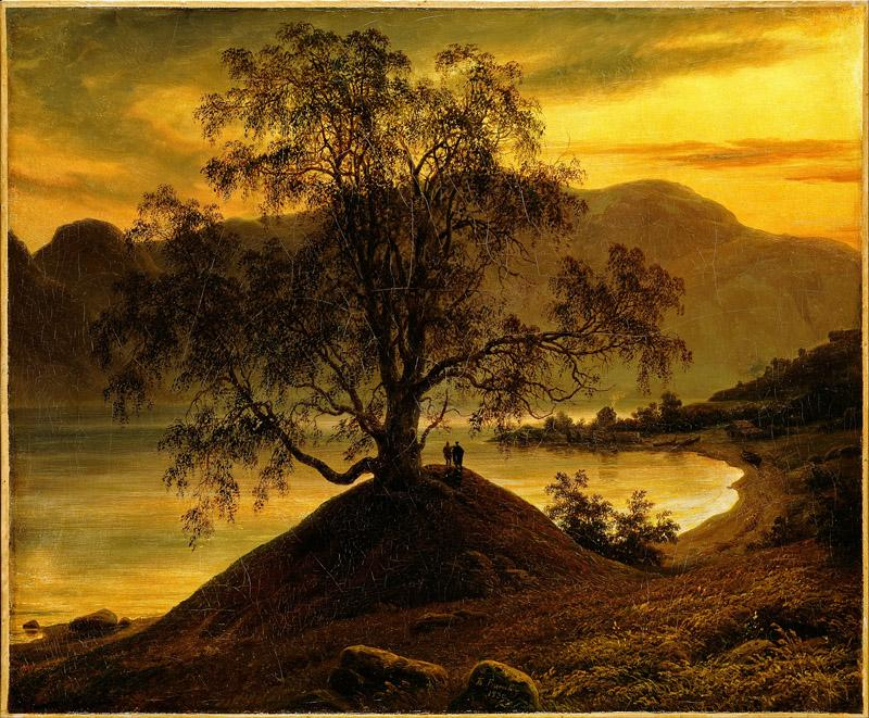 Thomas Fearnley - Old Birch Tree at the Sognefjord