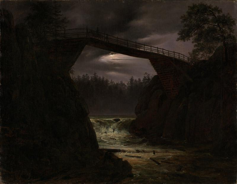 Thomas Fearnley - The Bridge of Hauge outside Arendal