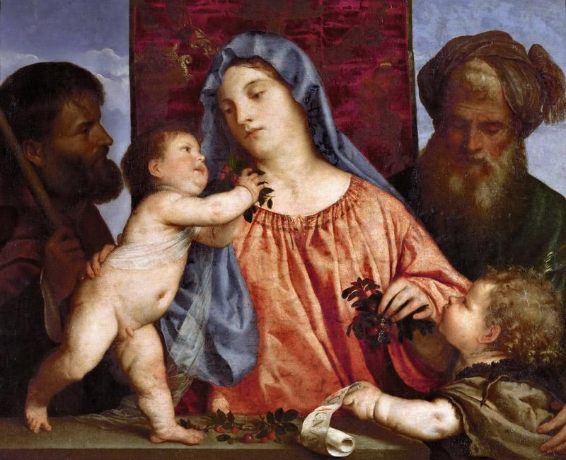 Titian -- Madonna of the Cherries