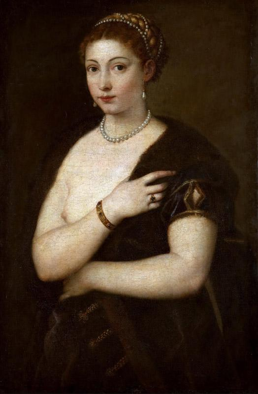 Titian --Young Woman with Fur