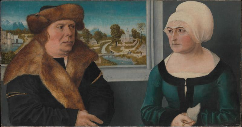Ulrich Apt the Elder--Portrait of a Man and His Wife