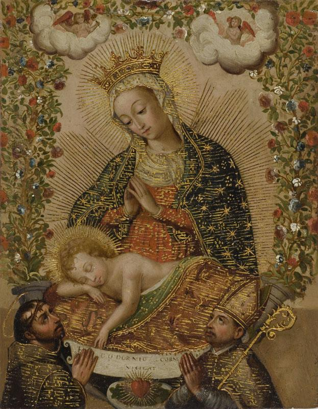 Unknown - The Virgin Adoring the Christ Child with Two Saints
