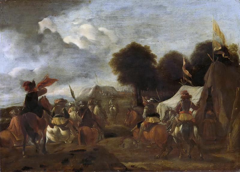 Unknown artist -- Het legerkamp, 1625-1674