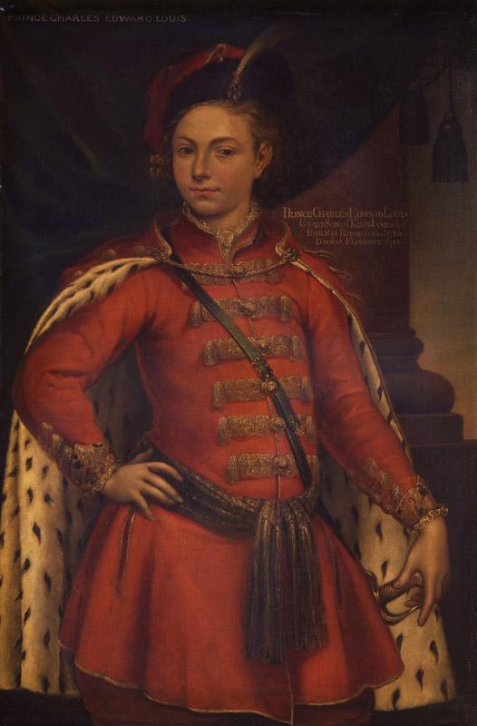 Unknown man, formerly known as Prince Charles Edward Stuart from NPG