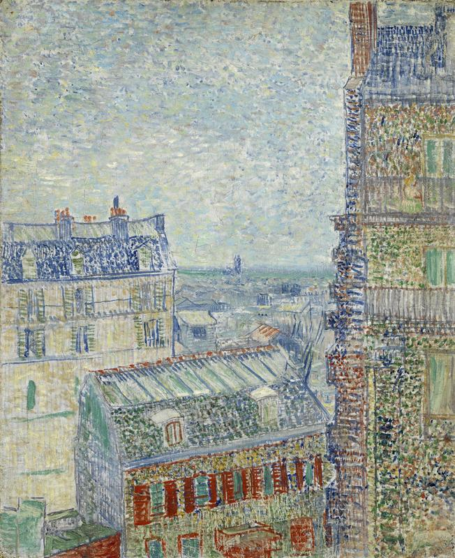 View of Paris from Vincent s Room in the Rue Lepic2