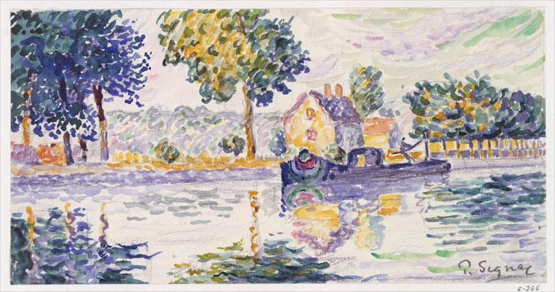 View of the Seine, Samois-Paul Signac (French, Paris 1863-1935 Paris)