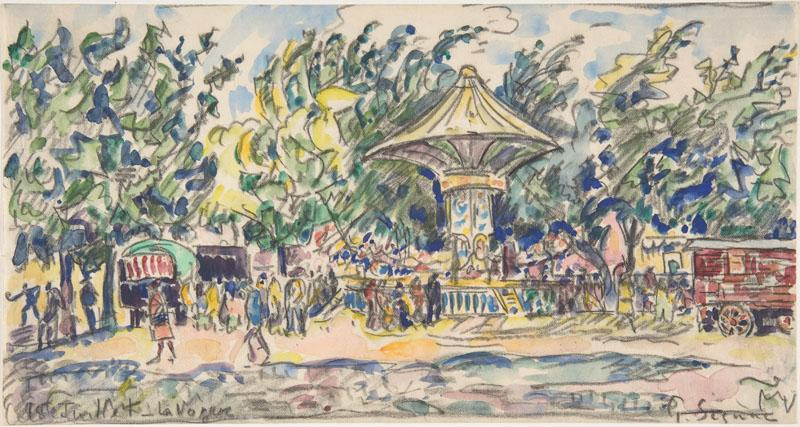 Village Festival (La Vogue)-Paul Signac (French, Paris 1863-1935 Paris)