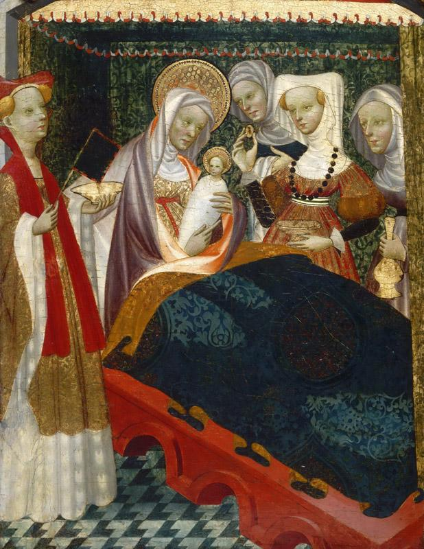 Villamediana Master, Spanish (active Palencia), active c. 1430-c. 1460 -- The Birth of the Virgin