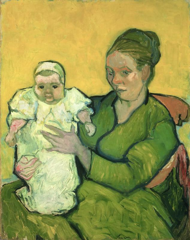 Vincent Willem van Gogh, Dutch, 1853-1890 -- Portrait of Madame Augustine Roulin and Baby Marcelle