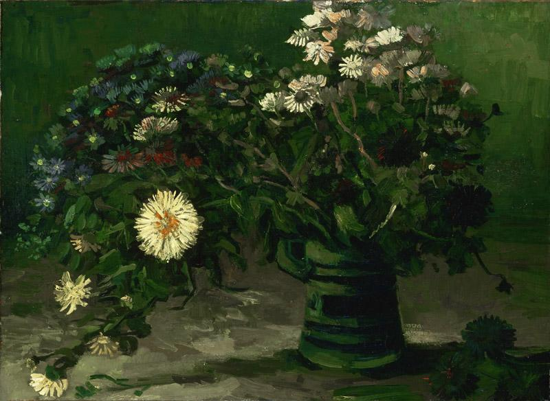 Vincent Willem van Gogh, Dutch, 1853-1890 -- Still Life with a Bouquet of Daisies