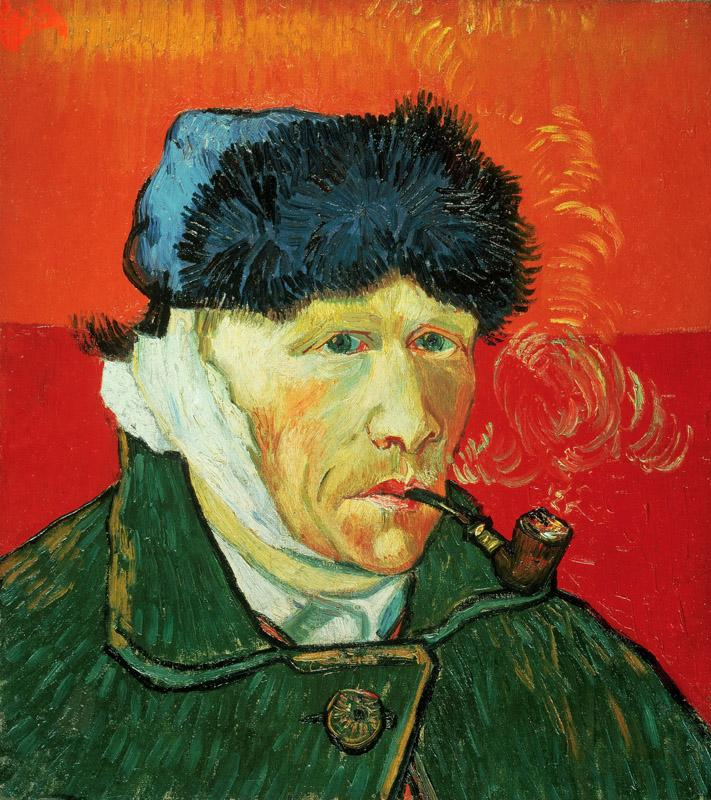 Vincent van Gogh - Self-Portrait with Bandaged Ear and Pipe