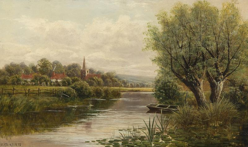 Welsh River Landscape, 1888
