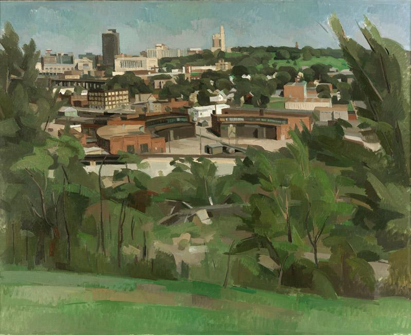 Wilbur Niewald - Kansas City, View from Greystone Heights IV, 1989