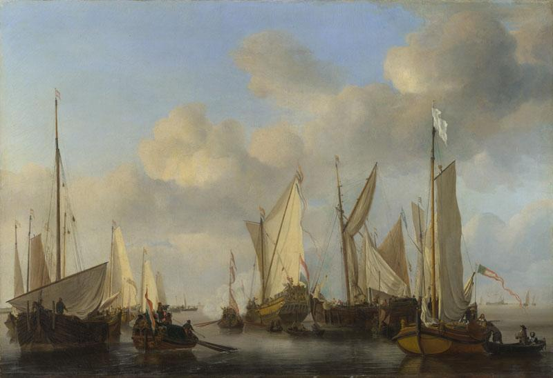Willem van de Velde - A Dutch Yacht saluting