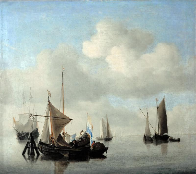 Willem van de Velde II -- Ships in a Calm Sea