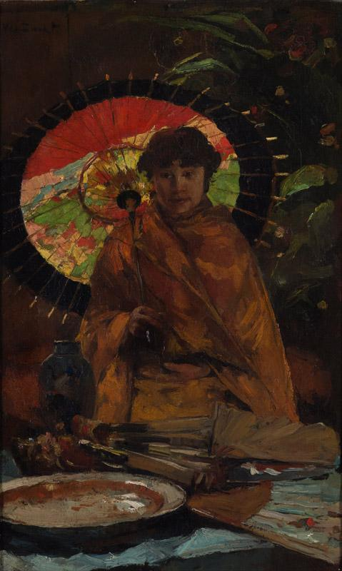 Willem de Zwart - Girl with Japanese parasol