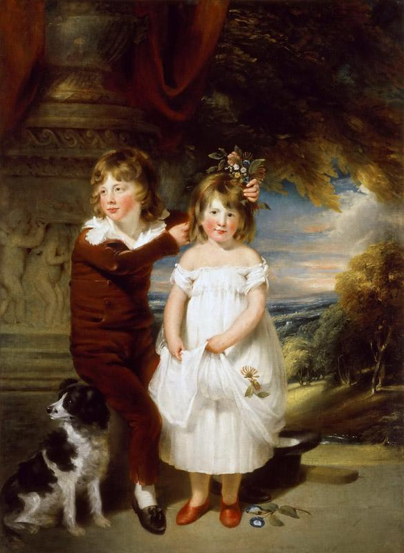 William Beechey -- Brother and Sister
