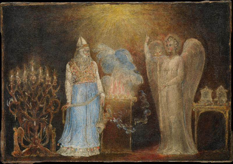 William Blake--The Angel Appearing to Zacharias