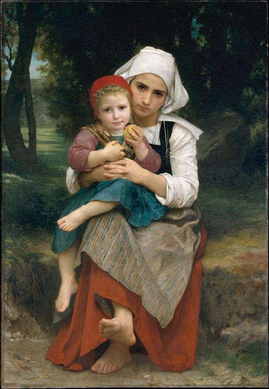 William Bouguereau--Breton Brother and Sister