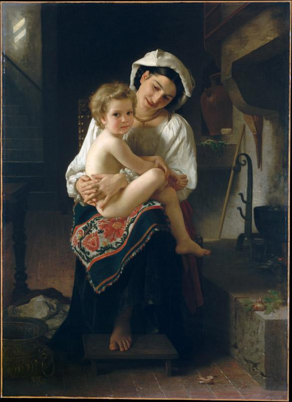 William Bouguereau--Young Mother Gazing at Her Child