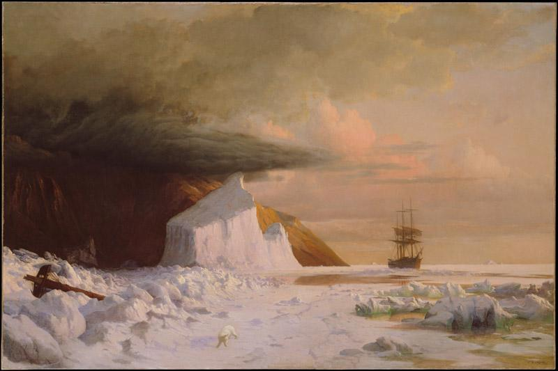 William Bradford--An Arctic Summer Boring Through the Pack in Melville Bay