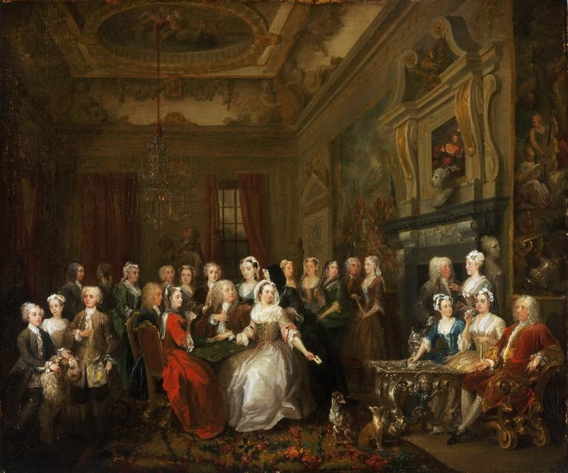 William Hogarth, English, 1697-1764 -- Assembly at Wanstead House