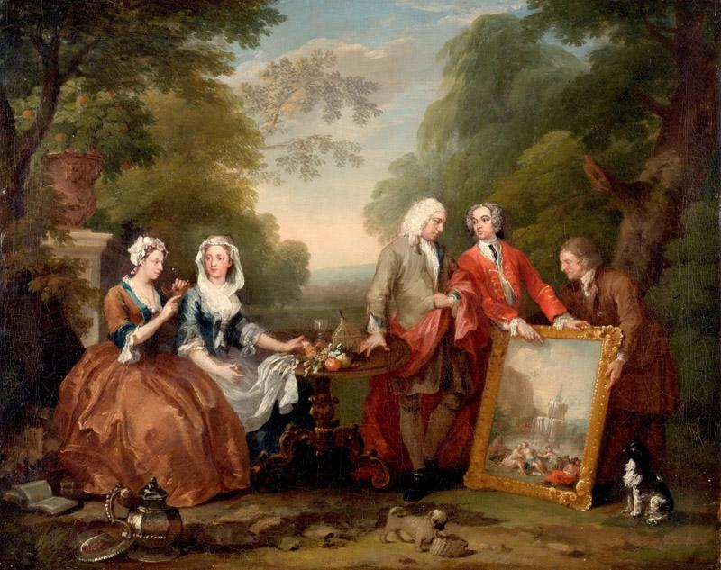 William Hogarth, English, 1697-1764 -- Conversation Piece (Portrait of Sir Andrew Fountaine with Other Men and Women)