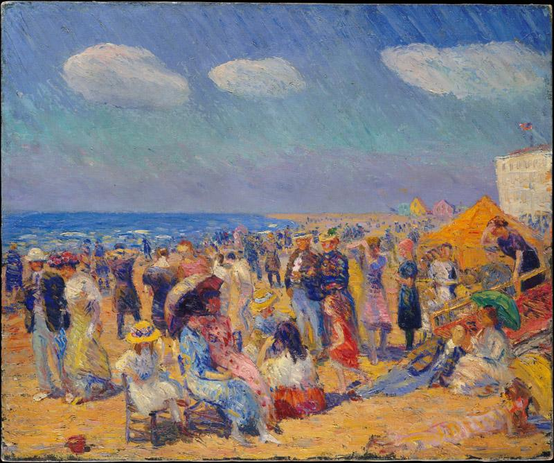 William James Glackens--Crowd at the Seashore