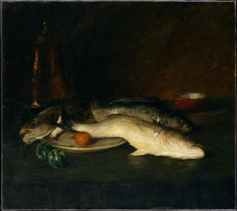 William Merritt Chase--Still Life Fish