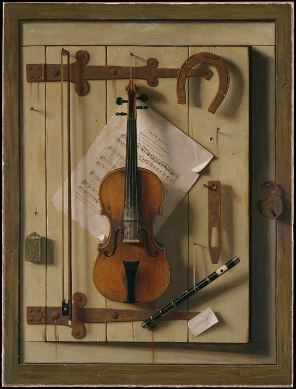William Michael Harnett--Still LifeiViolin and Music