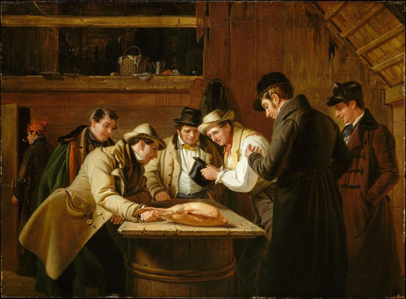 William Sidney Mount--The Raffle (Raffling for the Goose)