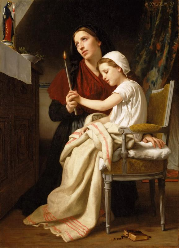 William-Adolphe Bouguereau, French, 1825-1905 -- The Thank Offering