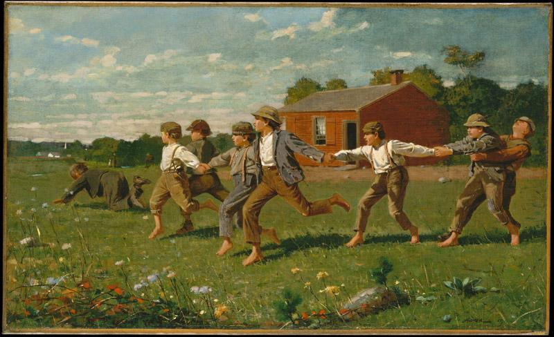 Winslow Homer--Snap the Whip