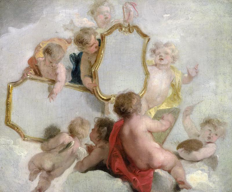 Wit, Jacob de -- Putti met spiegels, 1725-1744