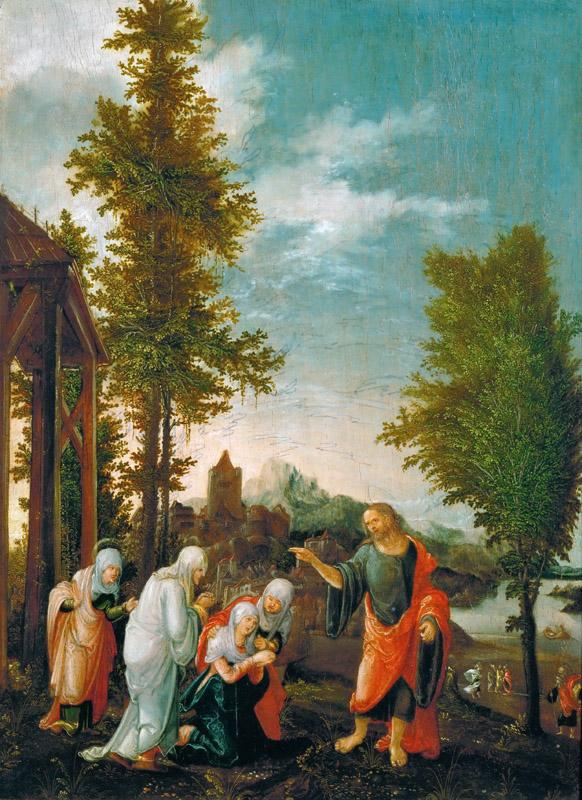 Wolfgang Huber (c. 1485-1553) -- Christ Taking Leave of Mary