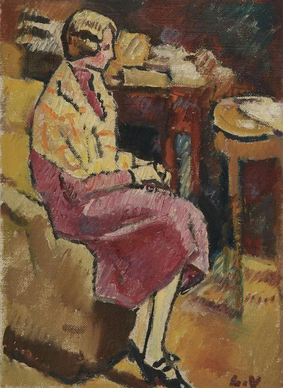 Woman Wearing Shawl in the Armchair, 1927