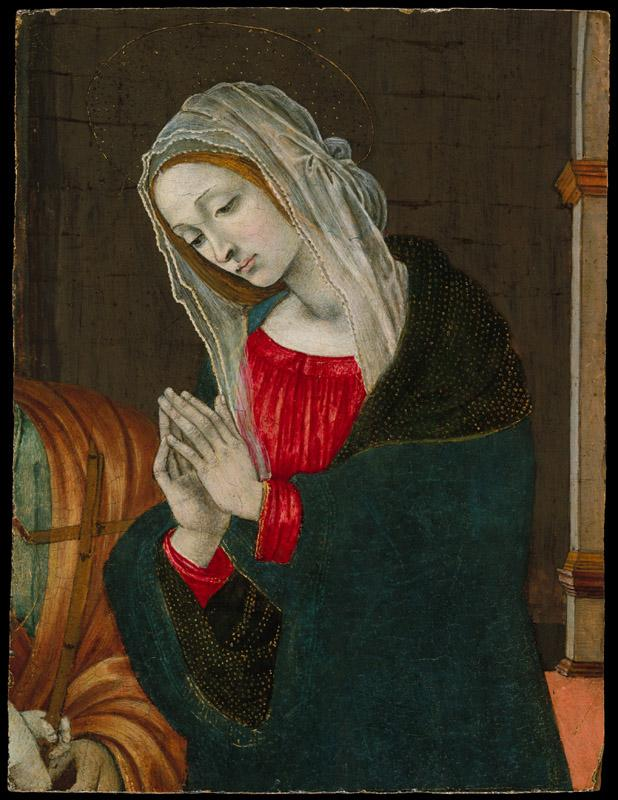 Workshop of Filippino Lippi--The Virgin of the Nativity
