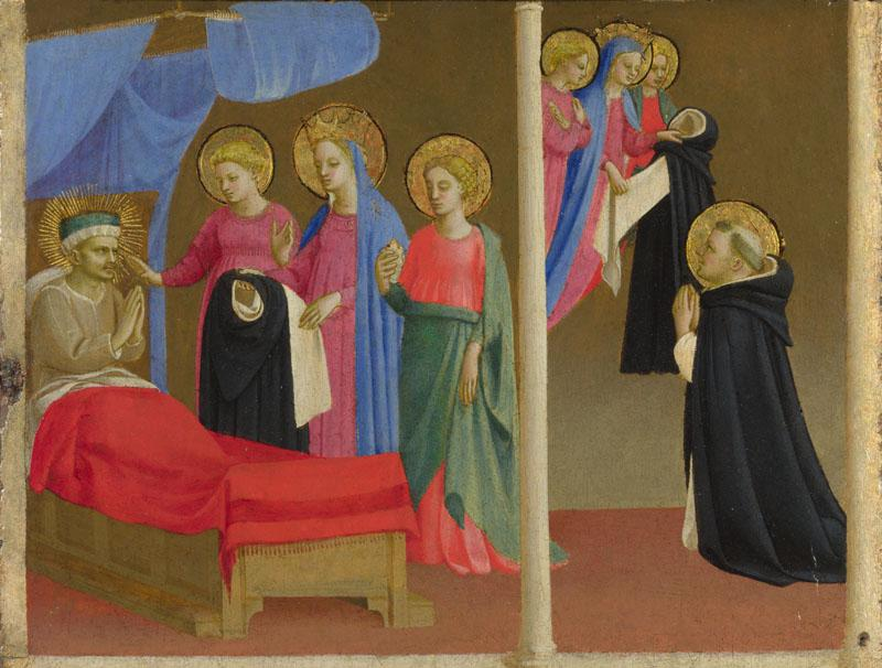 Workshop of Fra Angelico - The Vision of the Dominican Habit
