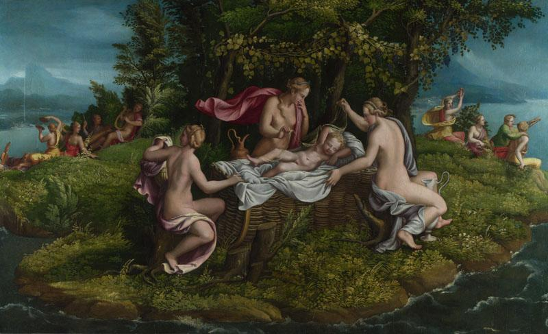 Workshop of Giulio Romano - The Infancy of Jupiter