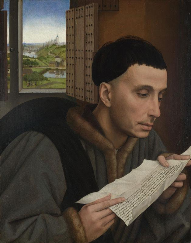 Workshop of Rogier van der Weyden - A Man Reading (Saint Ivo)