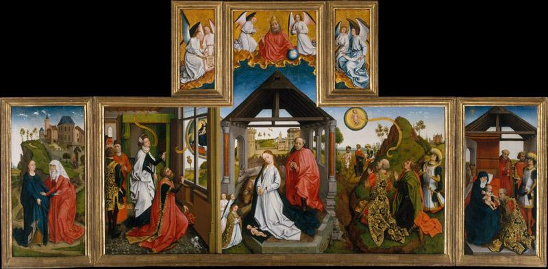 Workshop of Rogier van der Weyden--The Nativity