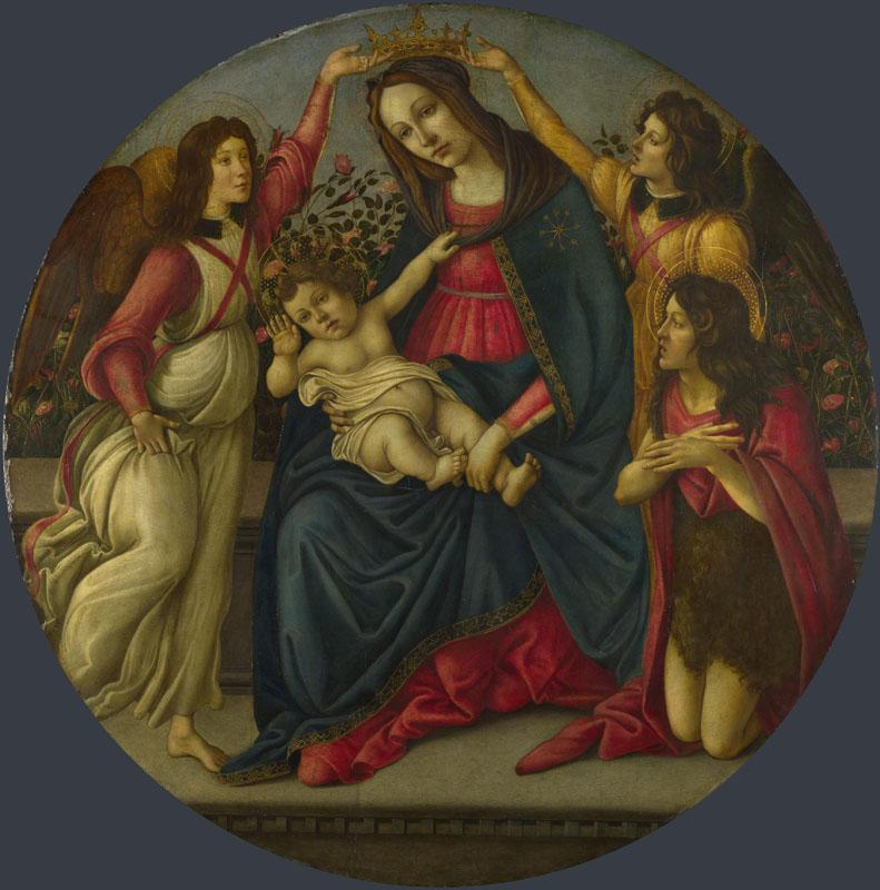 Workshop of Sandro Botticelli - The Virgin and Child with Saint John and Two Angels