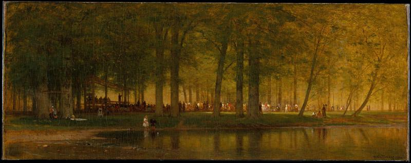 Worthington Whittredge--The Camp Meeting