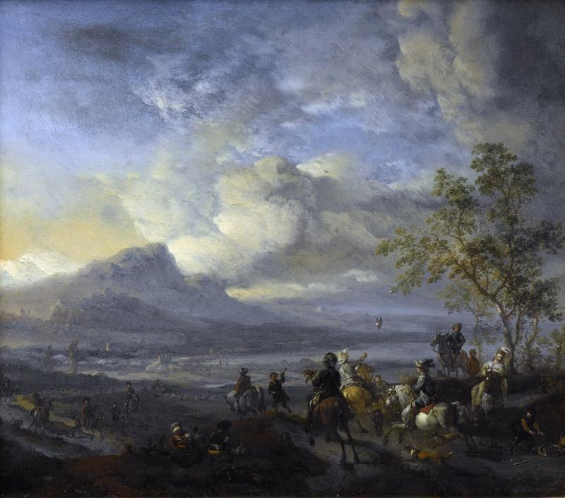 Wouwerman, Philips -- Reigerjacht, 1650 - 1668