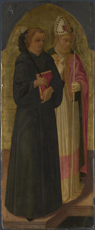 Zanobi Machiavelli - A Bishop Saint and Saint Nicholas of Tolentino