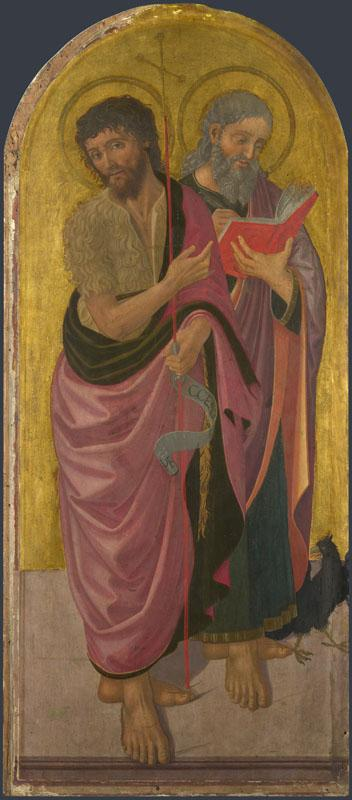 Zanobi Machiavelli - Saint John the Baptist and Saint John the Evangelist