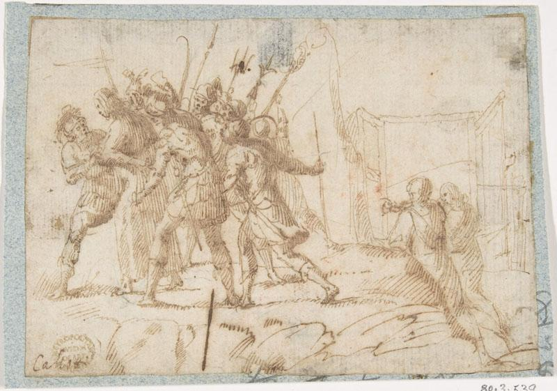 attributed to Francesco Allegrini--The Arrest of Christ
