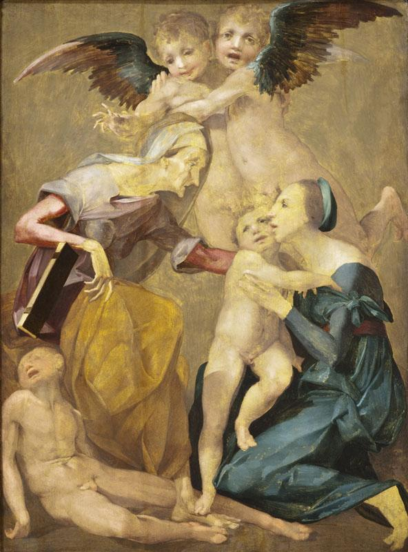 called Rosso Fiorentino Giovanni Battista di Jacopo - Allegory of Salvation with the Virgin and Christ Child