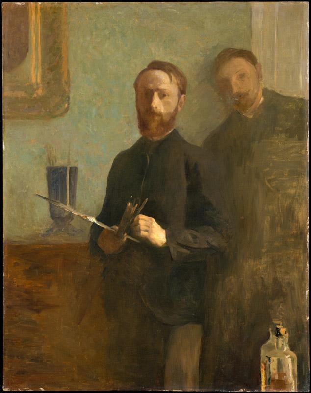 edouard Vuillard--Self-Portrait with Waroquy