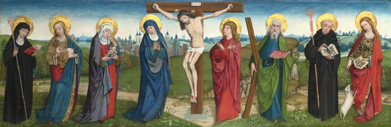 the Master of Liesborn - The Crucifixion with Saints